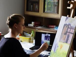 Pracowity plener malarski w Bagnie