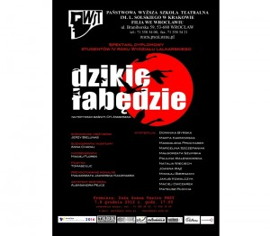 Dzikie Łabędzie – spektakl dyplomowy studentów na Dużej Scenie  Teatru PWST
