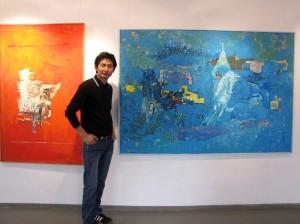 Wystawa malarstwa Odpurev Gankhuyaga w Klubie Muzyki i Literatury