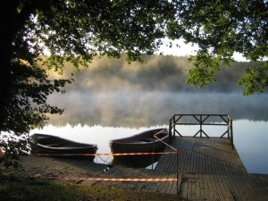 Jezioro Głębokie w Świeszynie koło Miastka