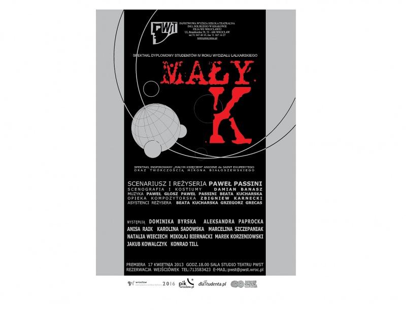 Mały K. –  premierowy spektakl dyplomowy Wydziału Lalkarskiego PWST