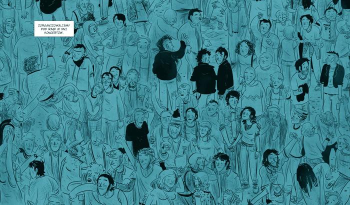 """Marcin Podolec """"Małe gesty"""" – wystawa i pokaz tworzenia komiksów"""
