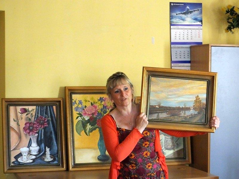 Ludzie z pasją. Wystawa obrazów Doroty Serafin w Świetlicy Osiedlowej Kowale
