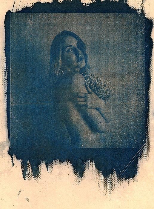 Portrety Łukasza Kapy  w technice cyjanotypii