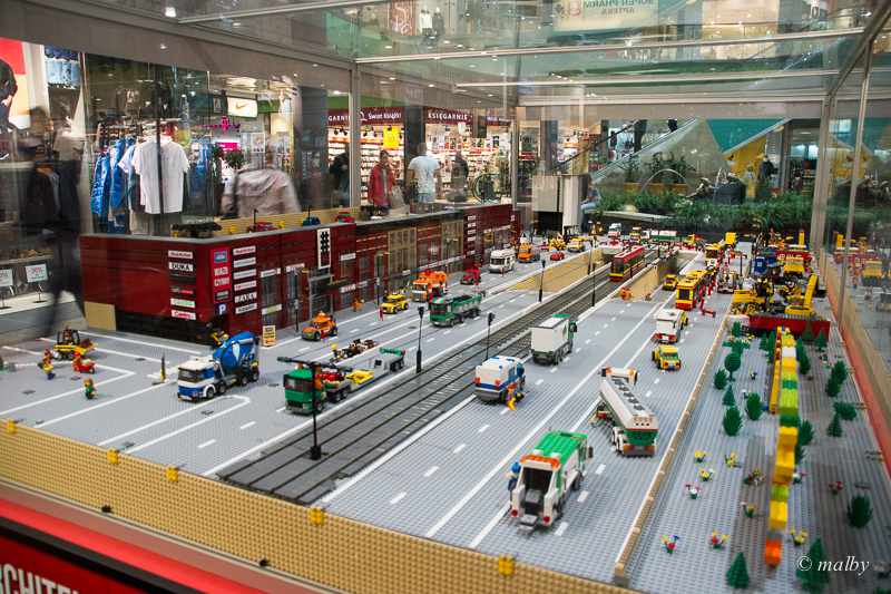 Łódzka trasa W-Z z klocków LEGO