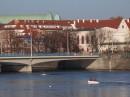 Nad Odrą. Widok na most Pokoju.