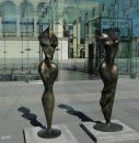 Wystawa rzeźb Stanisława Wysockiego  na placu Wolności