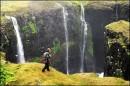 Blakkibás-waterfalls in the Hornstrandir area