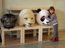Maski lalek zwierzęcych