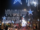 Xmas lights  in PUERTA DEL SOL square