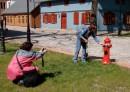 Dekorowanie skansenowego hydrantu