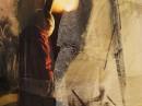 Fragment obrazu-kolażu Ewy Dyakowskiej-Berbeki