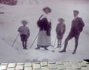 Eugeniusz Romer z żoną i dziećmi (Alpy, 1909 r.)