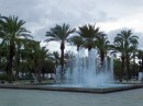 Fontanna przy bulwarze Passeig de la Mar