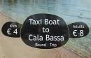 Reklama wodnej taksówki