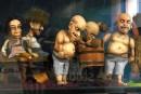 W gablotach, na korytarzu, można zobaczyć lalki