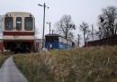 Wagony w skansenie w Rogowie
