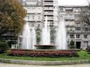 Fountain in Plaza de Compostela  gardens