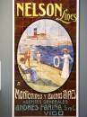 Cruise to america advertising in old ceramic