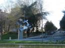 Modern sculpture tree symbolizing vigo