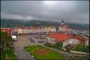Nove Mesto nad Metuji - widok na rynek z wieży zamkowej
