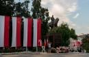 Plac Litewski z pomnikiem Józefa Piłsudskiego