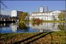 Widok na Białą Fabrykę jesienią