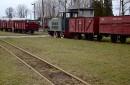 Parowóz i wagony towarowe cukrowni Kruszwica