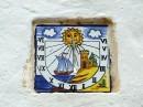 Detal na ścianie Sant Rafael de sa Creu