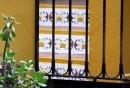 Sant Rafael, zdobione schody do willi