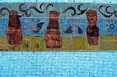 Sant Antoni de Portmany, ceramiczna dekoracja basenu hotelowego