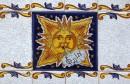 Sant Antoni de Portmany - pomysłowo zdobione płytki ceramiczne