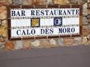Sant Antoni de Portmany - reklama restauracji z ceramicznych płytek